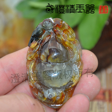 The high-quality goods Authentic natural nephrite jade flower pendant locket Xiuyan jade Wang Huayu fine jade pendant