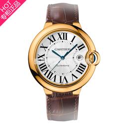 Cartier卡地亚蓝气球男士自动机械18K黄金腕表18K玫瑰金日历手表