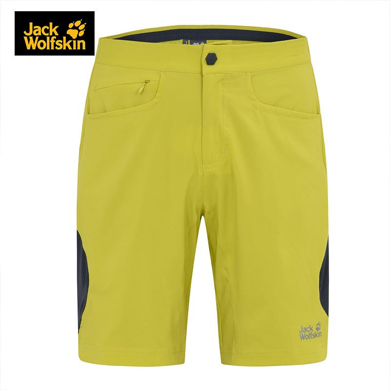 Jackwolfskin狼爪户外快干防紫外线夏季透气男士休闲短裤1503361