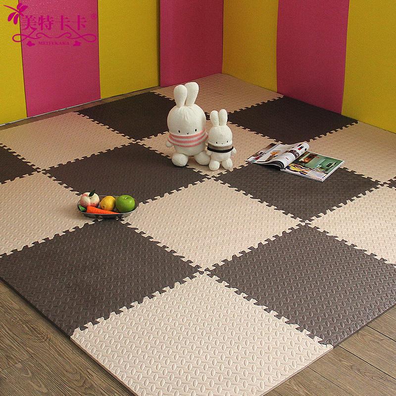 美特卡卡加厚2.4cm泡沫地垫 儿童拼接爬行垫 宝宝卧室防滑垫6060