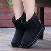雪地靴女鞋短靴女平底灰色棉靴防滑冬季加厚底绒保暖黑色妈妈棉鞋