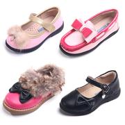 斯乃纳女童鞋 真皮公主鞋中童鞋儿童皮鞋学生鞋