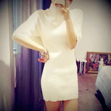 Flower flower nini home European SELAH WANG, cultivate one's morality show thin Two pieces of knitted dress