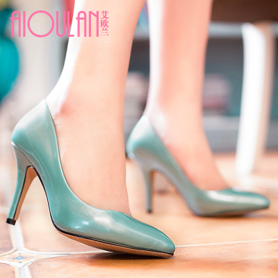 Ai Oulan 2015 spring models new fashion minimalist commuter sweet HanFeng singles pointed stiletto shoes