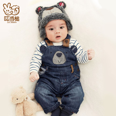Jingle hammer baby boy baby winter models long pants overalls overalls fall and winter clothes, children's clothing can sack