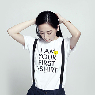 B.PLUS(first tshirt)slogan T-shirt