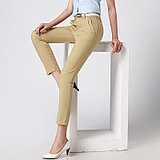 2014 summer styles in casual waist ladies pants elastic girl pants plus size nine of nine feet pencil pants