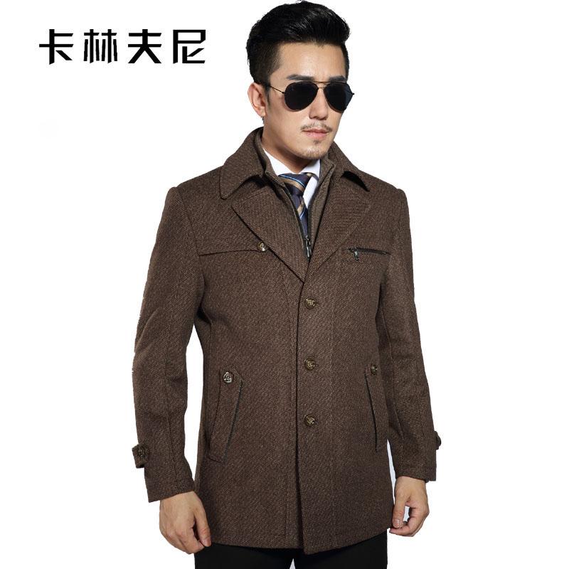 男装外套欹o#_虎都梦得娇虎豹才子品牌男装专柜正品 秋沙驰代购宽松羊毛呢大衣