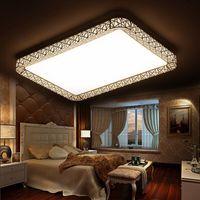 方形客厅灯铁艺led吸顶灯 鸟巢创意简约卧室灯 无极调光房间灯具