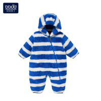 婴儿衣服秋冬加厚初生宝宝爬服哈衣0-1-2岁婴儿连体棉衣宝宝冬装