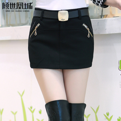 Korean version of the 2014 autumn and winter shorts ladies thick woolen pants boots big yards package hip culottes tide was thin woolen shorts female