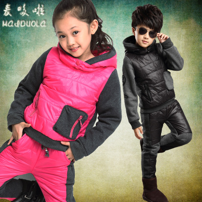 Kids girls winter coat girls coat suit coat boy child padded cotton clothing