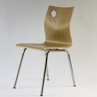 厂家直销肯德基餐椅不锈钢曲木椅曲木椅子饭店食堂小吃奶茶店餐椅