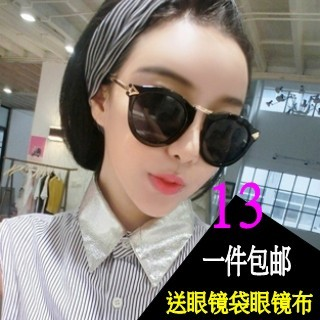 Sunglasses female star models 2013 new tidal wave of people in Europe and America retro sunglasses big box round women's sunglasses