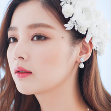DORA ni Sara. South Korea joker big-name allergy zircon earrings set auger earrings accessories female bride