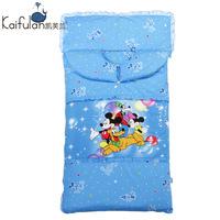 纯棉被子儿童睡袋防踢被 宝宝睡袋婴儿睡袋秋冬款加厚两用可拆洗