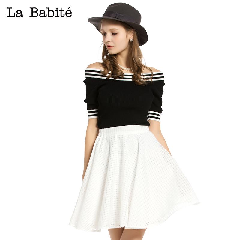 【灰姑娘】拉夏貝爾拉貝緹 2015春裝新款 針織衫兩件套 60002649圖片