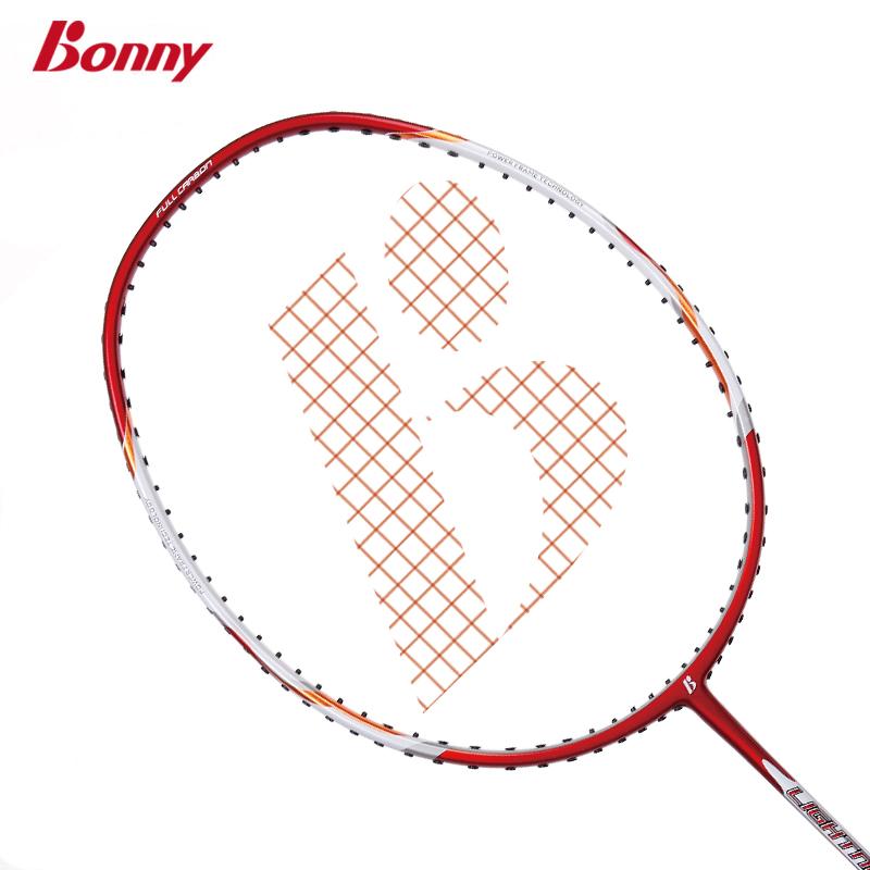 Bonny/波力 初级碳纤维羽毛球拍 闪电系列攻防拍单拍 新手专用拍