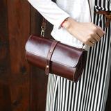 vintage original handmade retro Sen Department packet shoulder diagonal Ms. cowhide leather handbag bag phone