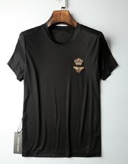 春夏精美串珠装饰 男士短袖t恤圆领T恤 打底衫半袖T恤