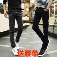 初中学生青少年男装春秋季牛仔裤13-14-15-16-18岁男孩小脚长裤子