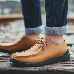 夏季休闲皮鞋英伦复古潮鞋男士真皮男鞋大头皮鞋潮男皮鞋男休闲鞋