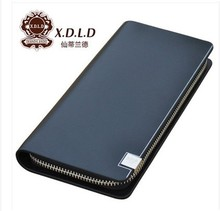 XDLD sandy land quality goods bag mail head layer cowhide leather wallet man purse new long purse