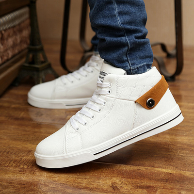 Increase in the autumn and winter 2014 new men's high shoes Korean version of the influx of male personality tide men's short tube flange