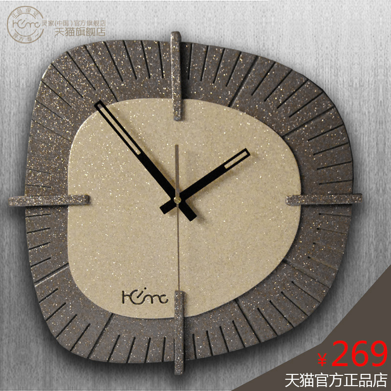 灵家创意客厅大号简约时尚家居空间个性艺术家达利手绘百搭挂钟表
