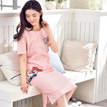 纯棉睡裙女夏天睡衣韩版甜美清新可爱中长款睡裙女短袖夏季全棉
