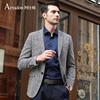 阿仕顿春秋季男士西服 浅灰色两粒扣商务便西外套