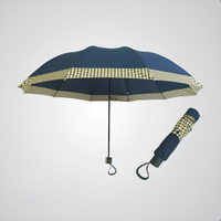 创意纯色商务接边雨伞十骨三折伞英伦折叠雨伞男士雨伞