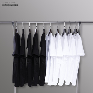 短袖t恤男纯色t桖圆领打底衫宽松纯棉丅纯白色半袖体恤半截袖