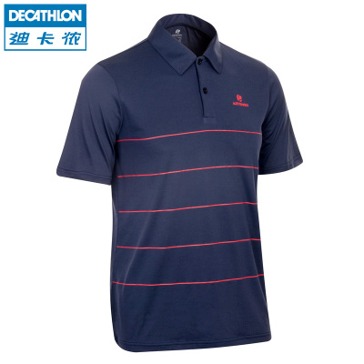 Decathlon Men POLO shirt multicolor striped short-sleeved T-shirt lapel summer sports wicking breathable ARTENGO