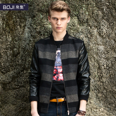 BOJI silk jacket men set new winter jacket wool woolen jacket influx of men genuine 1009