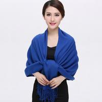 春秋冬季新款羊绒两用超大披肩 高端大气纯色女式保暖围巾包邮