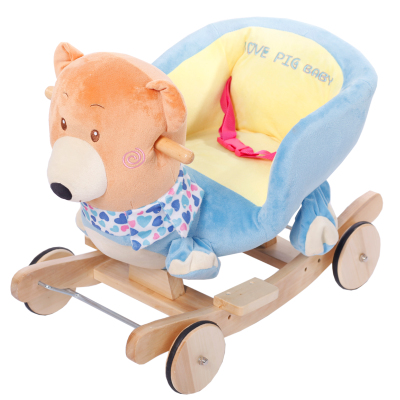 Meng Meng dual love educational toys baby bear children with music rocking horse rocking horse gift tuba