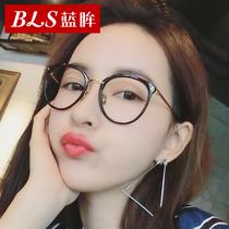 防辐射眼镜女士圆脸复古近视眼镜框眼睛男平光镜防蓝光电脑护目镜