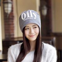 2015秋冬新款双层加厚女士套头帽 女士韩版保暖堆堆帽子 包头帽