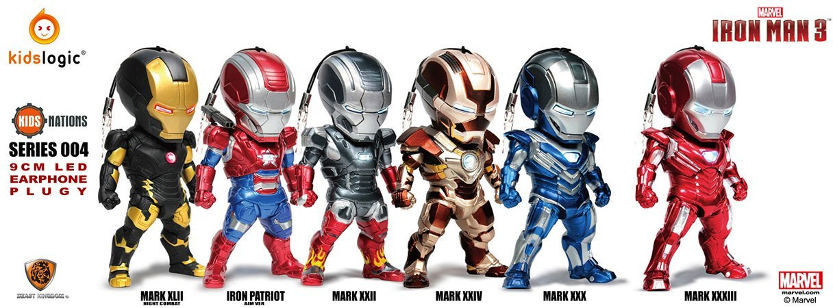 Kids Nation Series 004 Iron Man 3 Earphone Jack Accessories