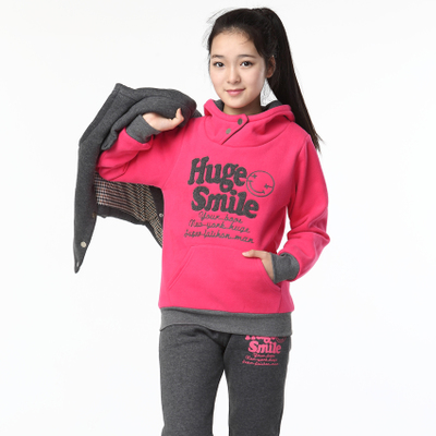 Kids Girls 2014 new winter sweater three-piece big boy Women 12 10 13 thick 15-year-old girl suits