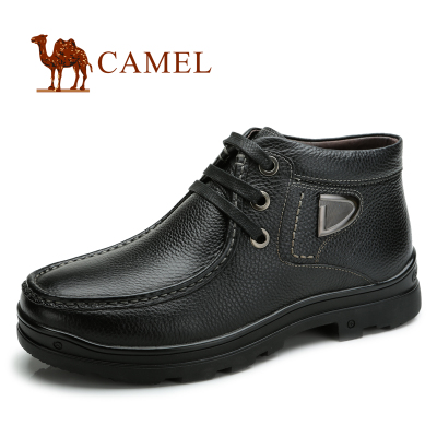 camel camel leather head skin boots men casual men's shoes boots warm winter plus velvet padded shoes