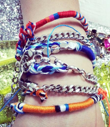 鏈條民族風彩繩超質感雙層手鏈