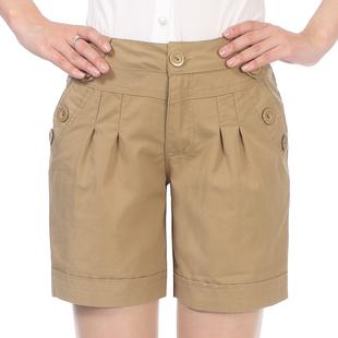 夏装中年女装休闲短裤 大码高腰女裤子 纯棉中裤妈妈装五分裤女