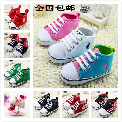 Free shipping Spring casual high-top sneakers for men and women 0-1 years old baby toddler shoes striped cuffs adorable Minnie Mouse shoes