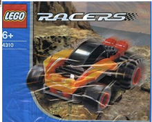 LEGO Racers 4310 Orange Racer *rare*
