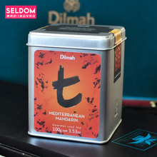 Package mail Dilmah dilma t series of Mediterranean orange flavour Ceylon tea Imported from Sri Lanka, 100 g