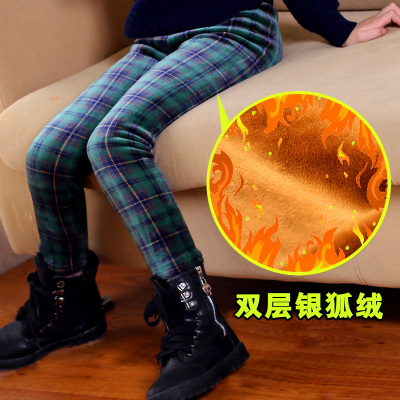 Girls leggings Dongkuan children dress trousers pants big virgin baby leggings plus thick velvet trousers