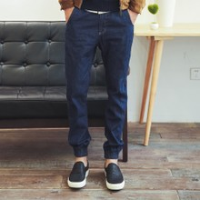 2014 independent original brand Han edition of unbleached cotton tide male long beam foot trousers cultivate one's morality cowboy