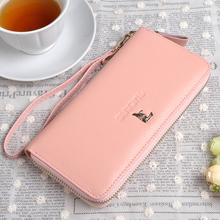 TUCANO woodpecker hand bag leather zipper new temperament mobile packet zero wallet lady handbag purse